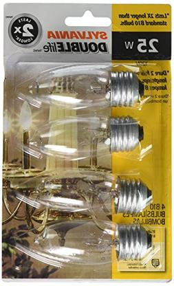 Sylvania 13331 - 25B10/DL/BL/4PK B10 Decor Torpedo Light Bul