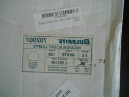 Bulbrite 702007 - 7.5S11W - White 7.5 Watt S11 Light Bulbs,