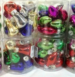 15 Mini Christmas glass  Bulbs Ornaments  Bells or Light Sha