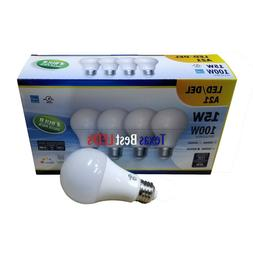 15 WATT A21 LED LIGHT BULB, 4-PACK, DIMMABLE, 3K to 6K,100W