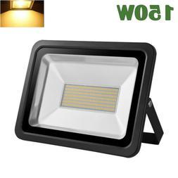 150W LED Flood Light Bulb Outdoor Garden Spotlight Warm Whit