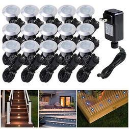 15pcs LED Bulbs Deck Light Garden Stair Yard Outdoor Landsca