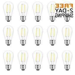 15pcs s14 led edison light bulbs 2w
