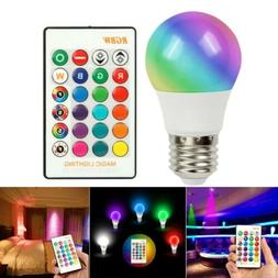 16 Color Changing Magic Light E27 3W RGB LED Lamp Bulb + Wir