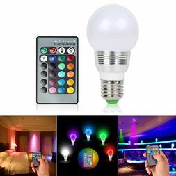 16 Color Changing Magic Light E27 3W RGB LED Lamp Bulb + Wir