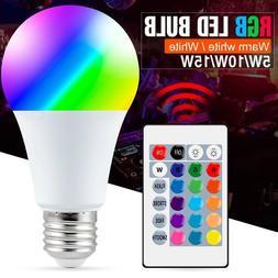 16 Color Changing Magic Light E27 RGB LED Lamp Bulb Wireless
