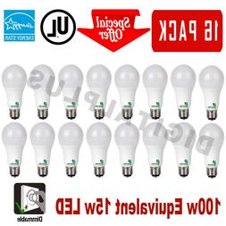 16 LED Light Bulbs GREENLITE 15W 100W Rep 1600L Warm White 3