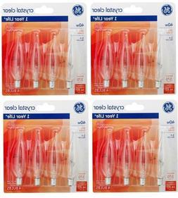 16 GE LIGHT BULBS GE CRYSTAL CLEAR 40-WATT BENT TIP, 370-LUM