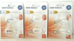 GE Lighting 17730 40-Watt Candelabra G16.5 Globe Bulbs, Crys