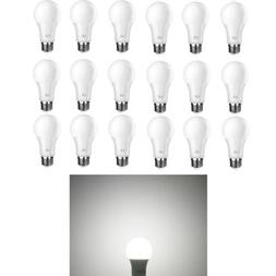 18 Pack LED 60 Watt Equivalent A19 LED Bulbs Dimmable 5000k