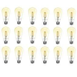 18 Pack ST64 Edison LED Filament Bulb 4W 2500K Warm White 35