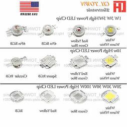 1W 3W 5W 10W 20W 30W 50W 100W White Blue RGB High Power LED