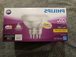 "1X  PHILIPS "" LED "" 120W  PAR38 FLOOD LAMP  DIMMABLE  IN & O"