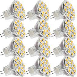 2.4W Led Mr11 Light Bulbs 12V 20W Halogen Replacement Gu4 Bi-Pin Base Soft Wh