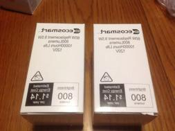 2 - Ecosmart 9.5W - Soft White Light Bulbs 120V 800 Lumens