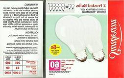 2 BULBS rOuGh SERVICE 60 watt frosted Soft White Medium E26