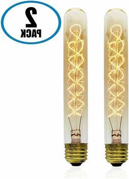 2 Bulbs,Vintage Retro Edison Bulb, T9 Tubular Radio Spiral,