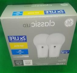 2 GE Classic 60 W Equivalent GU24 Dimmable Soft White A19 LE