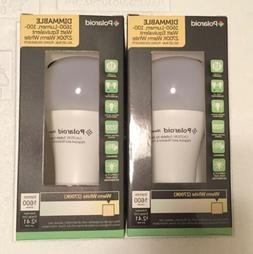 2 Polaroid Dimmable 1600-Lumen 100 Watt Equiv 2700K Warm Whi