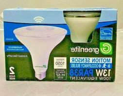 2 Motion Sensor Occupancy LED Bulbs 100W Equivalent 13W PAR3