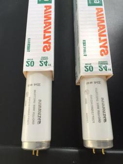 2 NEW Sylvania F20T12 fluorescent grow light bulb 20w Gro-Lu