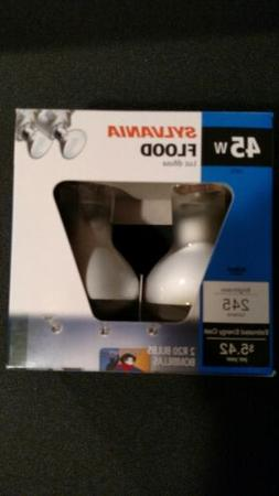 2 PACK SYLVANIA 45 Watt Dimmable Soft White R20 Incandescent
