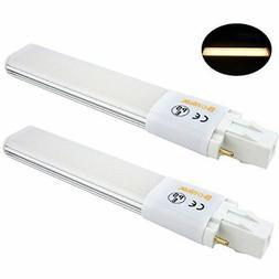 Bonlux 2-pack 6W GX23 2-Pin LED PL Retrofit Lamp 13W GX23d C