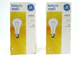 2 Pack Ge Clear Light Bulbs 200 W 3780 Lumens A21 Med Base 5