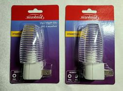 2-PACK Sunbeam COLOR CHANGING LED Night Light 3 Colors SAME-