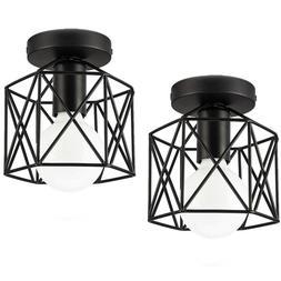2 Pack Flush Mount Ceiling Light Lamp Lighting Fixture Ediso