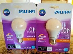 2 PACK-Philips LED 6.5 Watt / 40W Dimmable STANDARD Light Bu