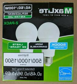 2 Pack LED Bulbs 3 Way 40/60/100W Replacement Daylight 5000k