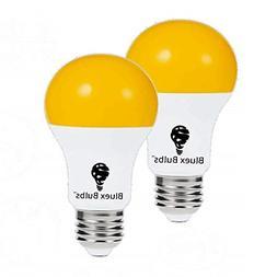 2 Pack LED Dusk to Dawn A19 Bug Light Bulbs, Yellow Bulb, Am