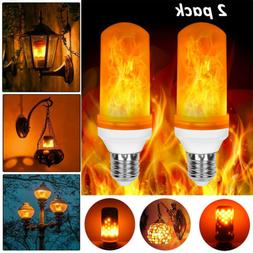 2 Pack LED Flame Effect Bulbs Light Simulated Flicker Nature