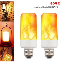 2-PACK LED Flame Effect Fire Light Bulb E27 Flickering Lamp
