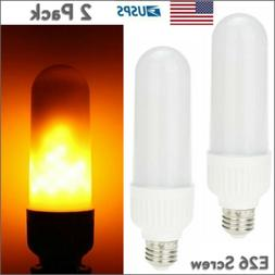 2 Pack LED Flame Effect Light Bulb E26 Simulated Nature Fire
