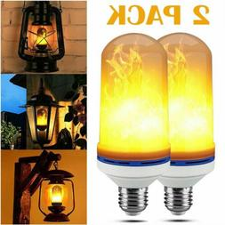 2 Pack LED Flame Effect Simulated Nature Fire Light Bulb E27