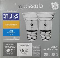 2 Pack GE LED PAR16 60W Equivalent warm white only 5.5 watts