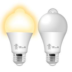 2 Pack Motion Sensor Light Bulb, UL Listed 10W  LED Light Bu