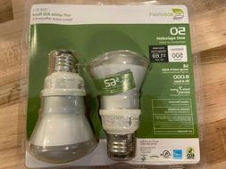 Ecosmart 2 Pack Soft White R20 Flood Light Bulbs, 50W Equiva