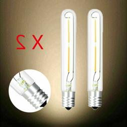 2 Pack Tubular Incandescent Bulbs T20/T6 E17 2W LED Filament