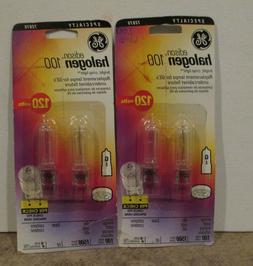 2 Packages GE Edison Halogen 100W  light bulbs 120 volts mod