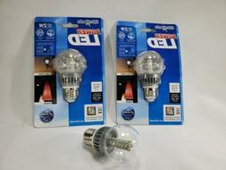 2 Watt Power LED Neutral Light Bulb 3 Light Bulbs.   Set of