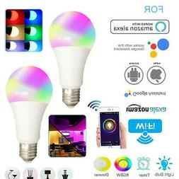 2 Wifi Smart LED Light Bulb Multi-Color For Amazon Alexa/Goo