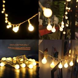 20/40 LED Globe Warm White Bulbs Frosted Christmas Outdoor P