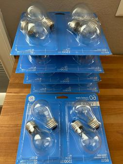 GE 60W 60 Watt Clear Light Bulbs A15 Medium
