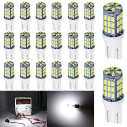 20 pcs T10 Wedge 1.2W Bulb pure white  LED For Malibu 12V DC