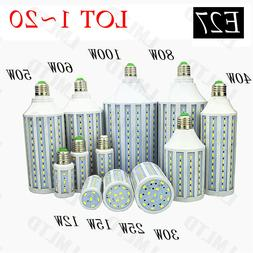 20W 30W 50W E27 110V Equivalent LED Corn Light Bulb Lamp Coo