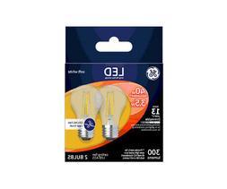 GE 23240 LED A15 Ceiling Fan Light Bulb, Soft White, Clear,