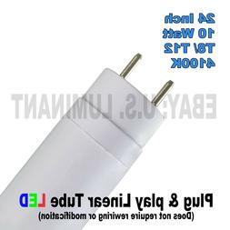 24 Inch Cool White 4100K T8 LED Relamp Fluorescent Bulbs F20